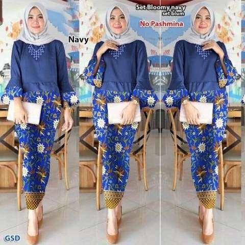 GSD - Setelan Baju Wanita/ Baju Pesta  /Baju Batik / Rok Batik / St Blum 2