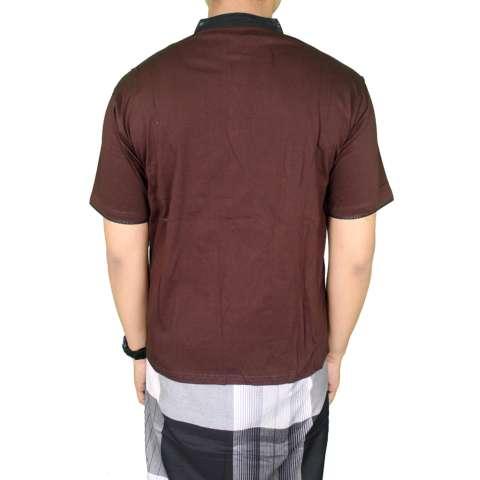 Gudang Fashion - Baju Koko Bordir Terbaru - Coklat 1