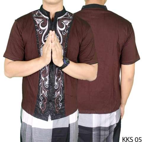 Gudang Fashion - Baju Koko Bordir Terbaru - Coklat 2