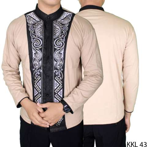 Gudang Fashion - Kemeja Panjang Baju Koko Pria - Krem 2