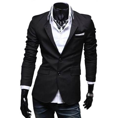 Gudang Fashion - Mens Casual Slimfit Korean Blazers - Hitam