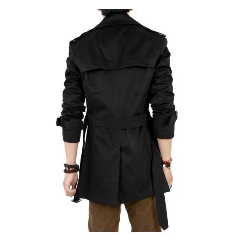 Haid Langsing Double Payudara Jas Hujan Jaket Mantel Panjang Musim Dingin Musim Gugur More Tahan Terhadap