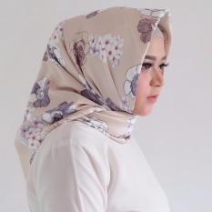 Hijab - Kerudung Segi Empat - Maxmara Silk - Diandra Cream / Jilbab