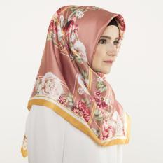 Hijabstore - Angel Lelga By Itang Yunasz AL 174 - Brown White Floral