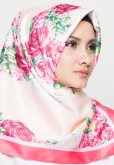 Hijabstore - Angel Lelga Original Scarf AL 036 - Peach Motif Bunga