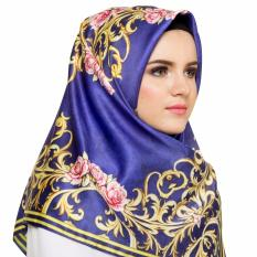 Hijabstore - Moshaict By Itang Yunasz AL 063 - Navy Motif Flower