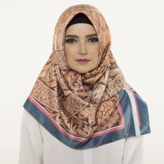 Hijabstore - Moshaict By Itang Yunasz AL 162 - Brown Wooden Craft Graphic