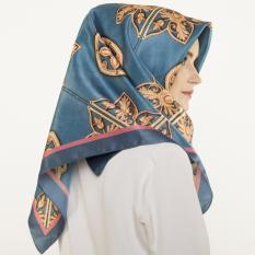 Hijabstore - Moshaict By Itang Yunasz AL 163 - Teal Gold Accent Graphic