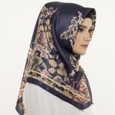 Hijabstore - Moshaict By Itang Yunasz AL 263 - Navy Brown Floral
