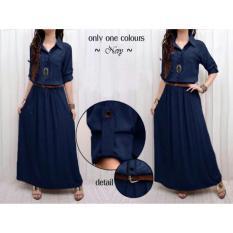 Honeyclothing Dress Wanita Lita - Navy / Dress muslim / Longdress / Baju Wanita / Gamis Muslim / Best Seller