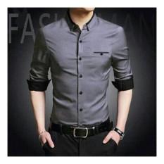 Honeyclothing Kemeja Pria Topmen - Abu / Kemeja Formal Pria / Kemeja Casual Pria / Baju Pria / Atasan Pria / Baju Kerja