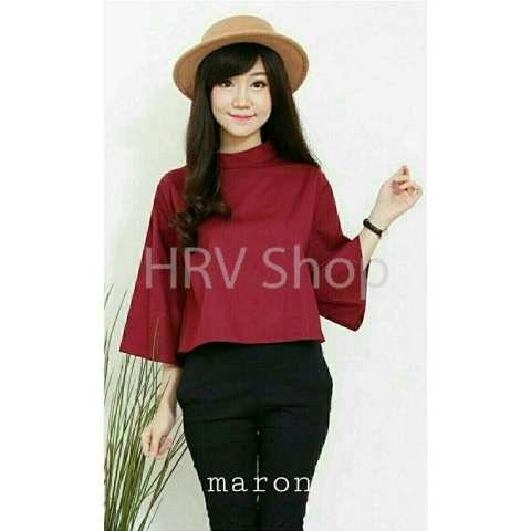Home  HRV Shop Blouse Wanita Gaine   Baju Wanita   Blouse Korea   Atasan  Wanita 290afe3f6d