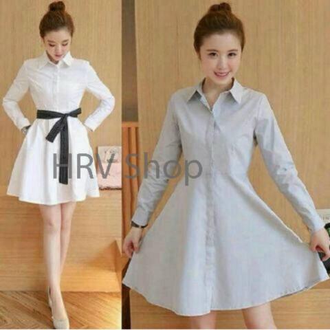 HRV Shop Dress Wanita Viana - Putih / Dress T-shirt Wanita / Gaun Kaos Wanita / Dress Santai Wanita / Gaun Remaja/ Gaun Kasual / Dress Casual Wanita / Dress ...