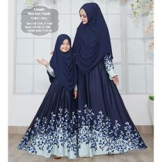Humaira99 Gamis Syari Couple Ibu Anak Dress Hijab Muslimah Atasan Wanita Maxmara Cindy