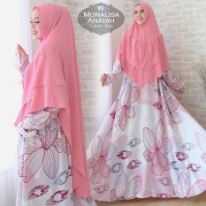 Humaira99 Gamis Syari Jumbo Muslim Dress Hijab Muslimah Atasan Wanita Monalisa XXL