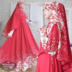 Humaira99 Gamis Syari Jumbo Muslim Dress Muslimah HIjab Lengan Panjang Monalisa XXL