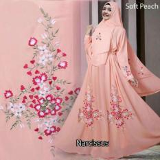 Humaira99 Gamis Syari Muslim Ceruty Premium Dress Muslimah Narcissus