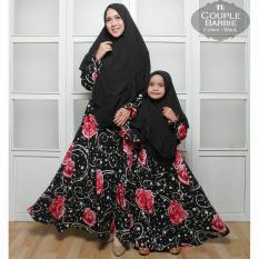 Humaira99 Gamis Syari Muslim Couple Ibu dan Anak Barbie Crepe
