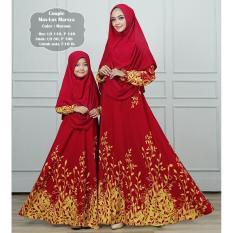 Humaira99 Gamis Syari Muslim Couple Ibu dan Anak Dress Hijab Atasan Wanita Maxmara