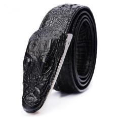 Ikat Pinggang 3D Model Crocodile - Black