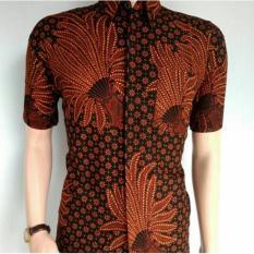 Indonesia Heritage - Kado Ultah - Kemeja Batik Pria Eksklusif - Baju Kondangan - Batik Pesta - Pari Coklat