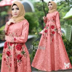 Indonesia Heritage Busana Muslim Pesta Bordir Mewah - Baju Kondangan Muslimah Premium - Gamis Masa Kini Dress Muslim - Kebaya Modern - ihayana