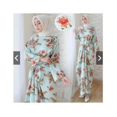 IndonesiaHeritage Gamis Kaftan Pesta Ikat Maxmara Velvet Premium muat sampai Jumbo / XL -  Baju Kondangan Muslimah - Syari Pesta - Maxy Dress - Kebaya Modern - ihshaquila