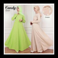 IndonesiaHeritage PROMO SALE Baju Kondangan Muslimah Free Pashmina - Gamis Syari Pesta Busui Murah - Polkadot - Fashion Busana Muslim Terbaru