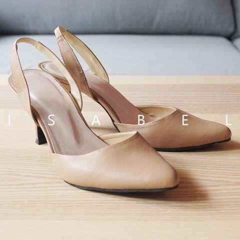 Isabel - Sepatu Wanita Hak Tinggi KIMORA Heels - Coklat