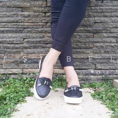 Isabel - Sepatu Wanita LUCY Slip On Loafers - Hitam