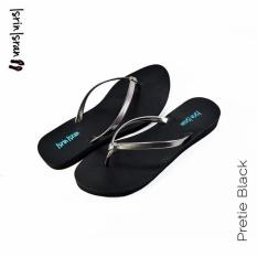 Isrin Isran Sandal Flat Pretie - Black