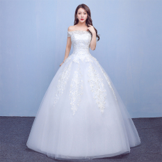 Istana Baru Musim Semi Mempelai Wanita Gaun Pengantin Gaun Pengantin Gaun (Model Qi)