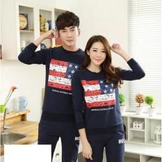 Jakarta Couple Sweater Couple Flag Nevy