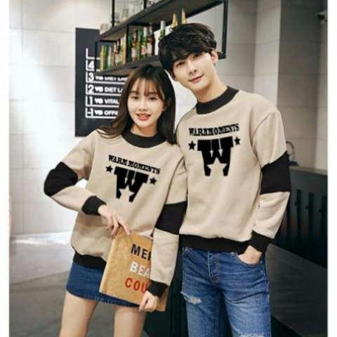 Beli Jakarta Couple Sweater Pasangan Warm Moments Coksu Hitam Harga Rp 129.000