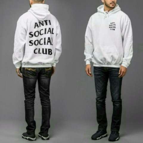 Jaket Anti social club White Pull Over Hoodie Best Seller