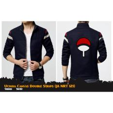 Jaket Jas Canvas Double Strips Uchiha Anime Naruto (JA NRT 121) Best Seller