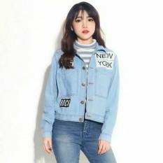 Jaket Jeans Denim New York Wanita - Light Blue