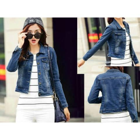 Jaket Jeans Wanita Fashionable - Olivia Blue