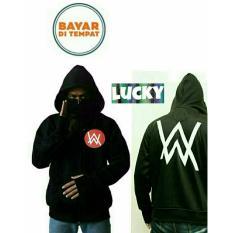 Jaket Ninja Hoodie Zipper DJ Alan Walker Circle Red Logo Best Seller Black