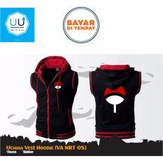 Jaket Rompi Anime Uchiha Vest Hoodie (Rompi Naruto - VA NRT 05) - Black