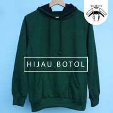 Jaket Sweater Polos Hodie Jumper Hijau Botol - Premium Quality