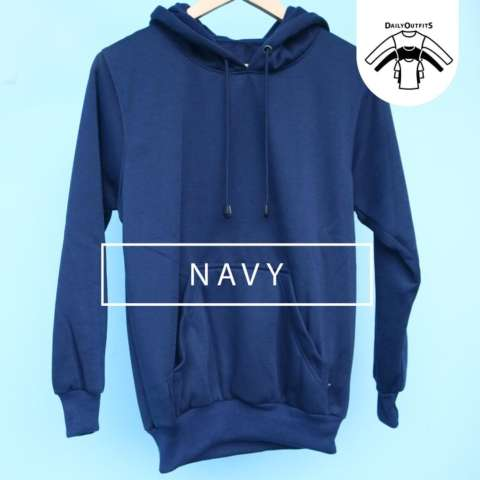 Harga Jaket Sweater Polos Hoodie Jumper Biru Navy Premium Quality Harga Rp 74.900