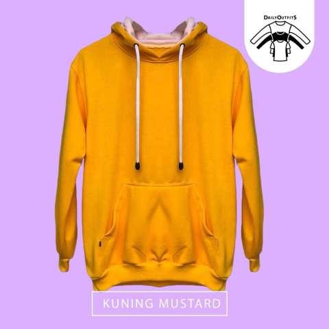 Jaket Sweater Polos Hoodie Jumper Kuning - Premium Quality