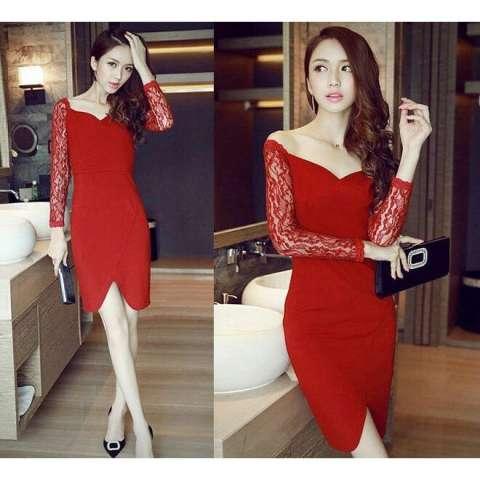 J&C Cecillia Dress / Dress Pesta / Dress Korea / Off Shoulder / Dress Bahu Terbuka
