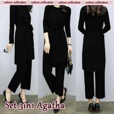 J&C Setelan Agatha / Setelan 3 In One / Baju Celana Wanita / Baju Muslim / Setelan Muslim / Baju Hijab / Hijab Style