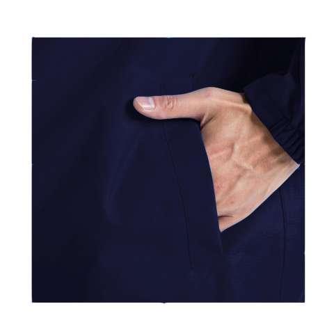 Jas Hujan Setelan Unisex Waterproof Raincoat Windproof Full Polyester Goretex - Navy Blue