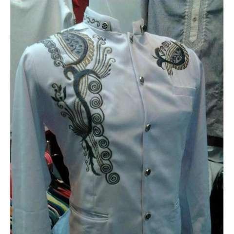 ... Batik Bordir Lengan Pendek Lebaran Hari Raya Pengajian ZO17 KK89 Kemeja Fashion. Source · Home; Jasko Modern Putih Full Bordir Kujang (Baju Koko Pria, ...