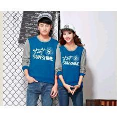 JC - Kaos Couple Sunshine LP Model Terbaru / Tshit Couple / Baju Pasangan / Kaos Murah / kaos Lengan Panjang