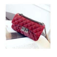 JCF Tas Fashion Anak Remaja Dan Wanita Dewasa Silica Jelly Sling Teenager And Adult Mini Candy Bag - Red Maroon