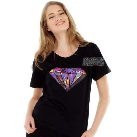 JCLOTHES Kaos Cewe / Tumblr Tee / Kaos Wanita Lengan Pendek Diamond